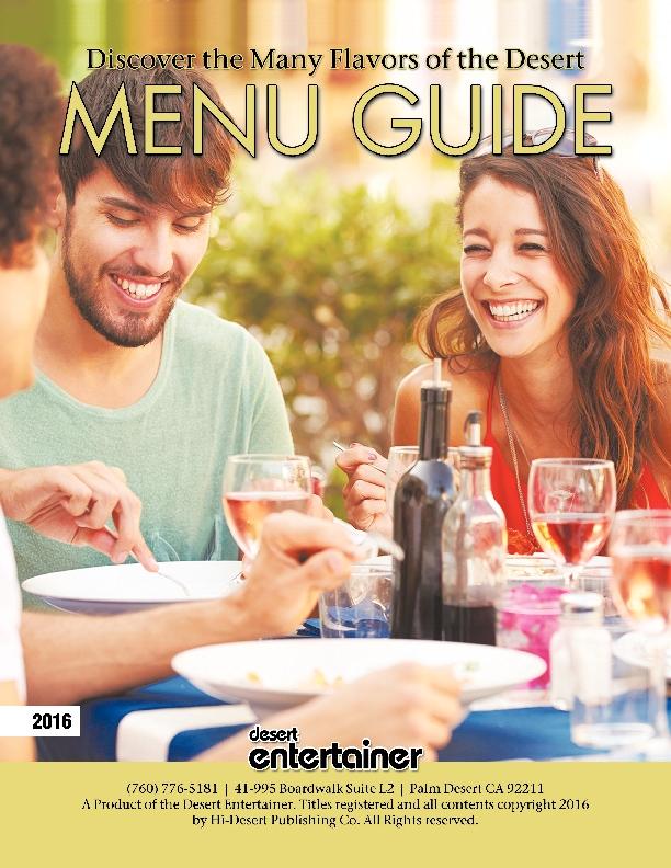 2016 Menu Guide